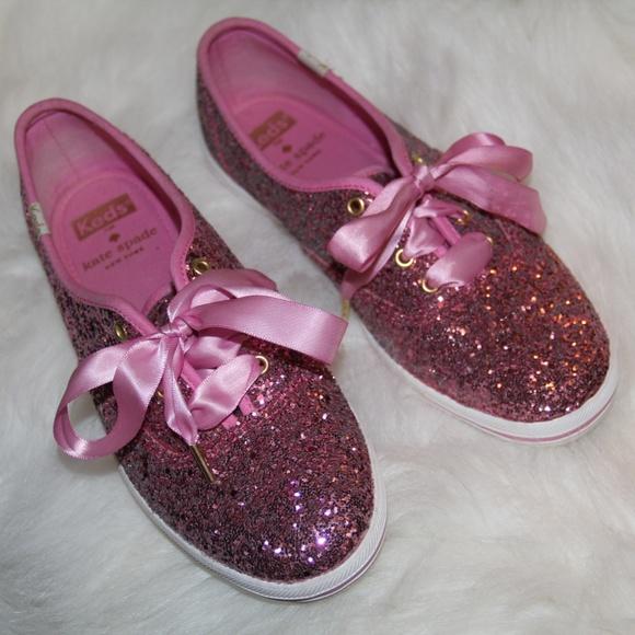 kate spade pink glitter keds